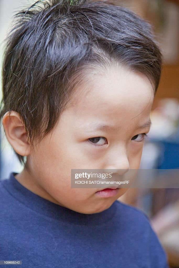 A Boy Glaring Stock Photo   Getty Images