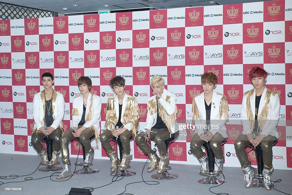 Boy group TEENTOP at press conference of TEENTOP NO.1 Asia Tour in Seoul, South Korea on Sunday May 12, 2013.