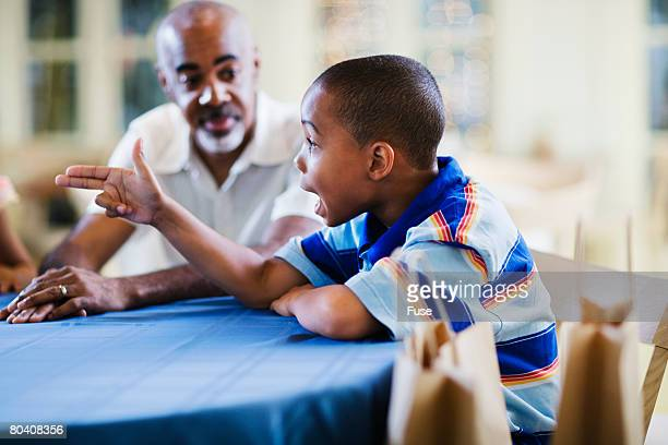 Boy Having Conversation
