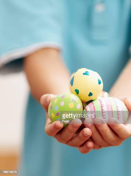 Boy Holding Easter Eggs