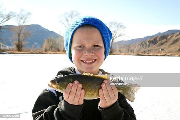 Boy Holding Fishing
