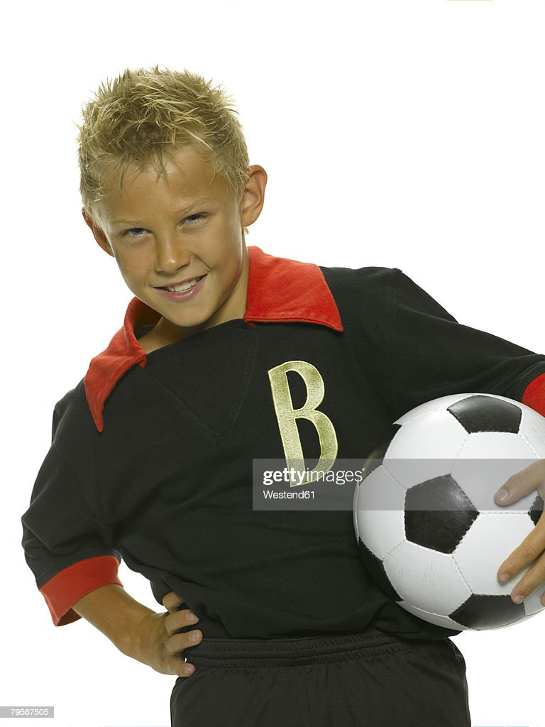 Boy with a football : Stock Photo