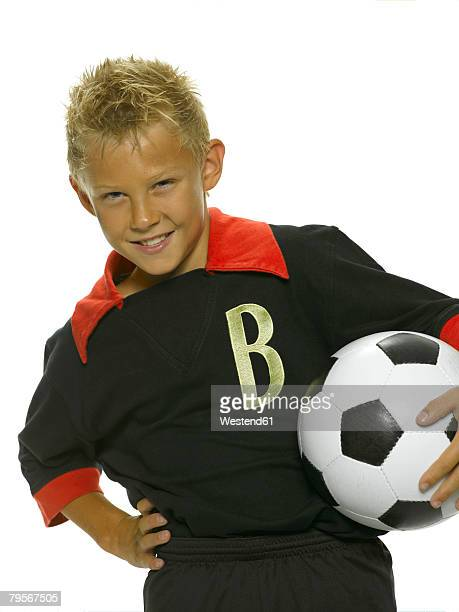 Boy with a football