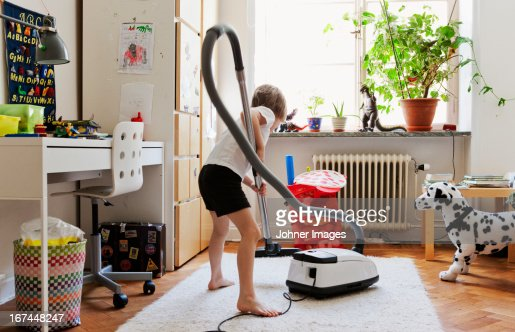 Boy hovering nursery : Stock Photo
