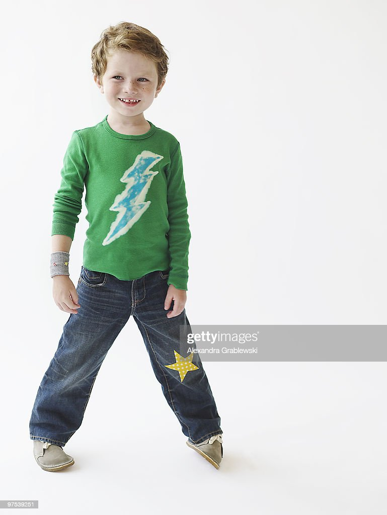 Boy in Cool Clothes : Stock Photo