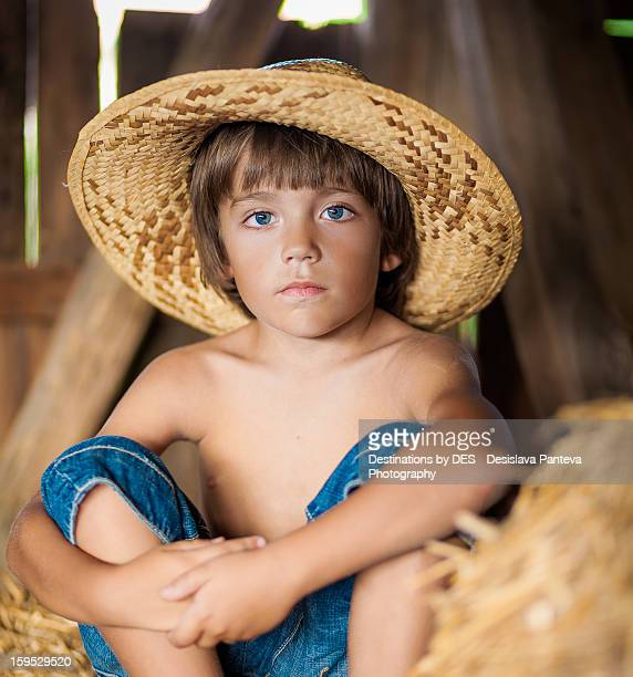 Boy in country style