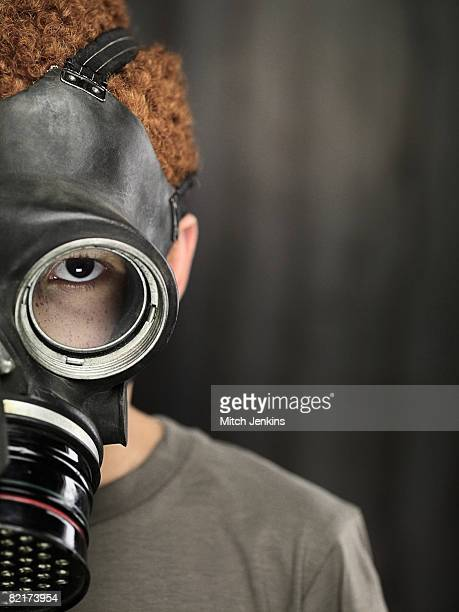 Boy in Gas Mask