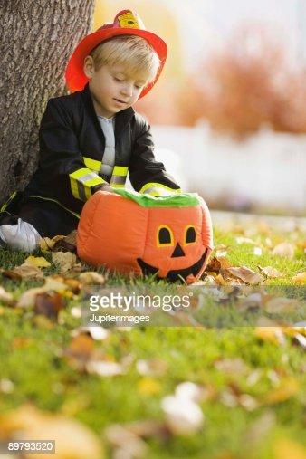 Boy in Halloween costume : Stock Photo