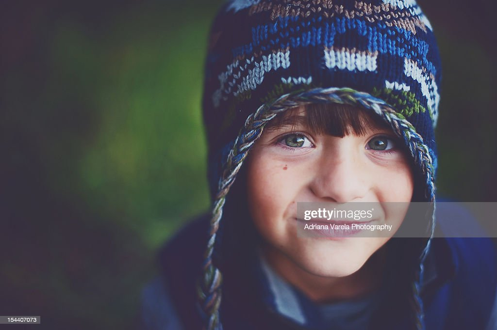Boy in hat : Stock Photo