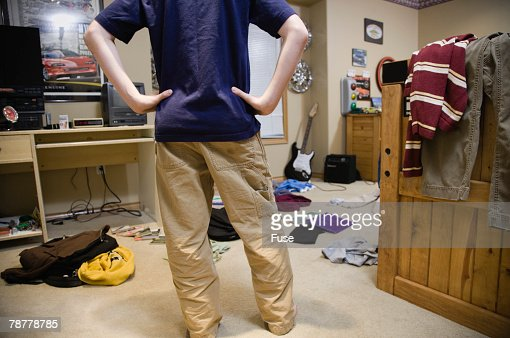 Boy In His Messy Room Stock Photo Getty Images