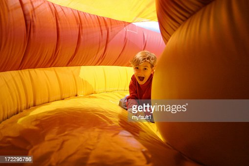 boy in inflatable