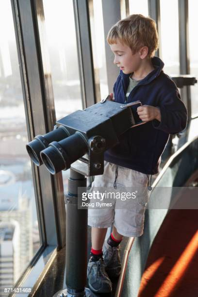 Boy in observation tower