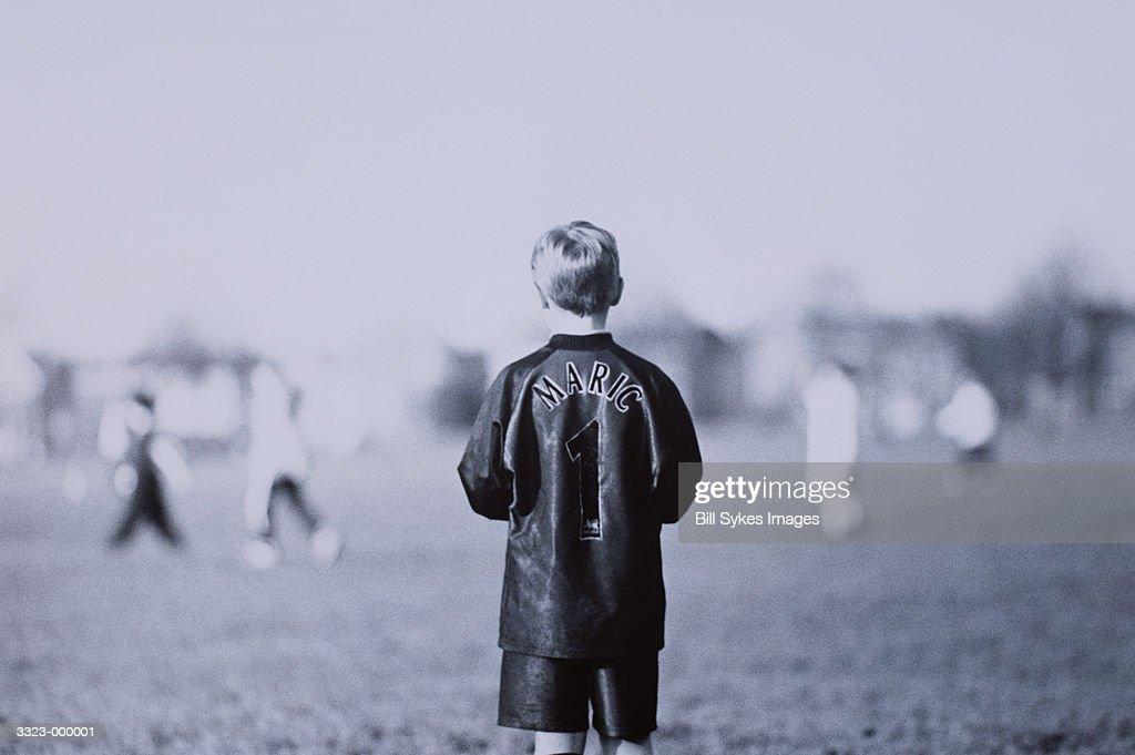 Boy in Soccer Game : Stock Photo