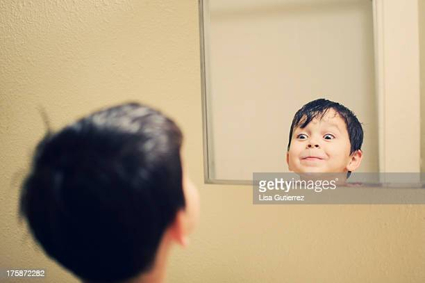 Boy in the mirror