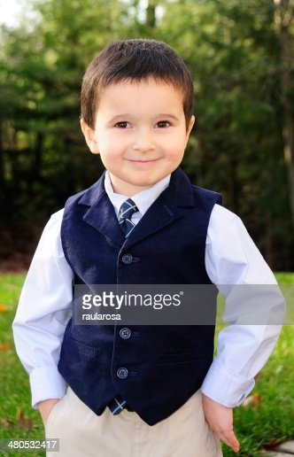 Boy in Vest and tie : Stock Photo