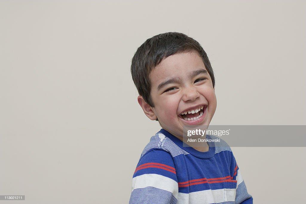 Boy Laughing : Stock Photo