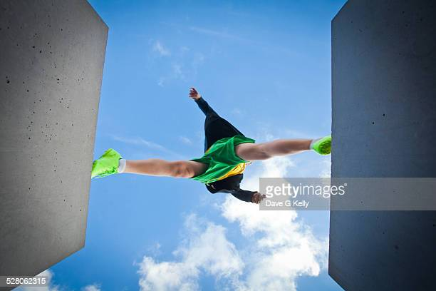 Boy Leaping