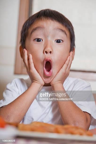 Boy looking surprised, Japan