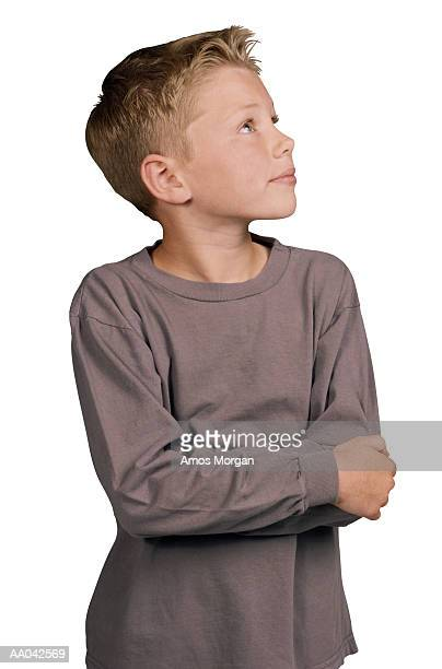 Boy Looking Upwards