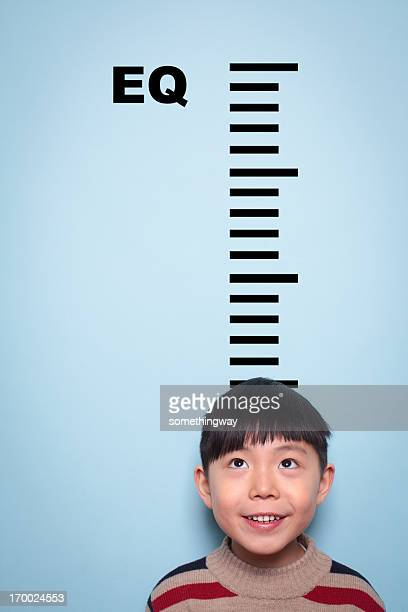 Boy measuring emotional intelligence