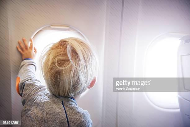 Boy on a plane