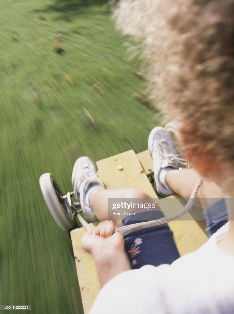 Boy on Go-cart : Stock Photo