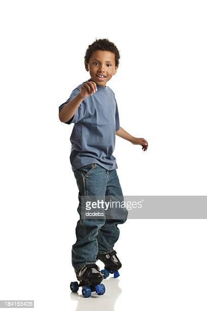 Junge auf deinen Inlineskates