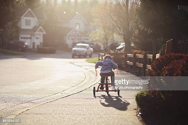 Boy on the tricycle