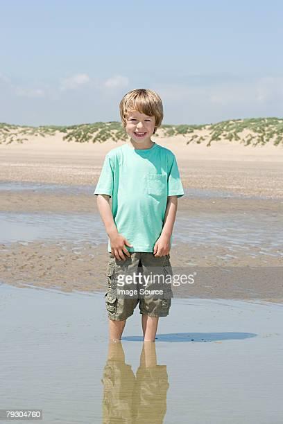 Boy paddling