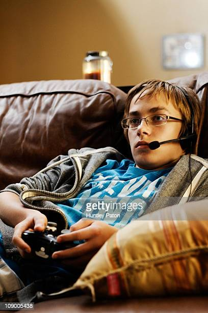 Boy Playing Live Video Game