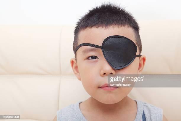 Boy playing pirate