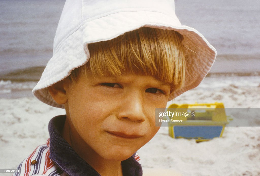 Boy Portrait at the Beach : Stock Photo