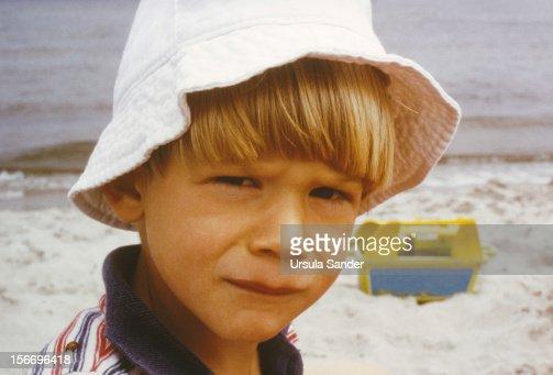 Boy Portrait at the Beach : Stock Photo