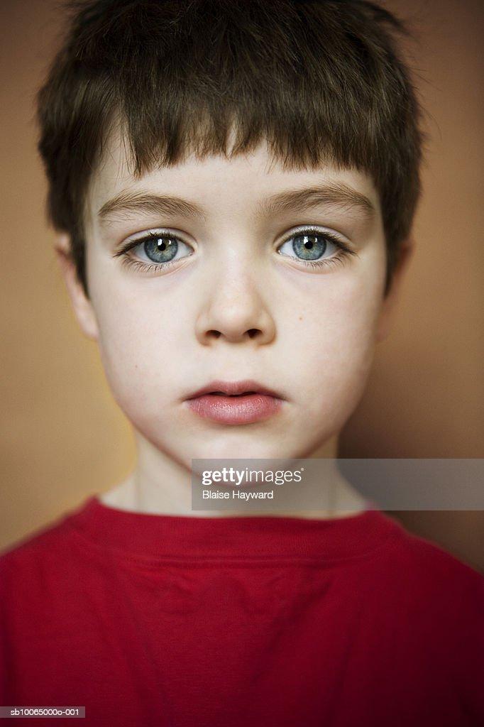 Closeup Portrait Of A: Boy Portrait Closeup Stock Photo