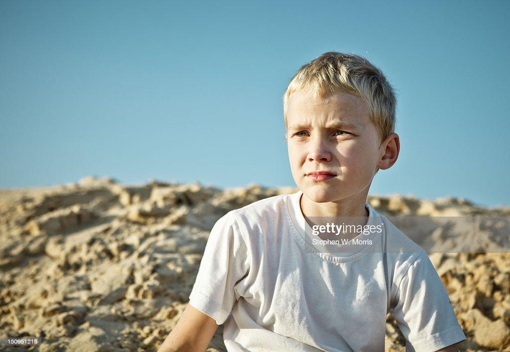 Boy Portrait in Sunlight : Stock Photo