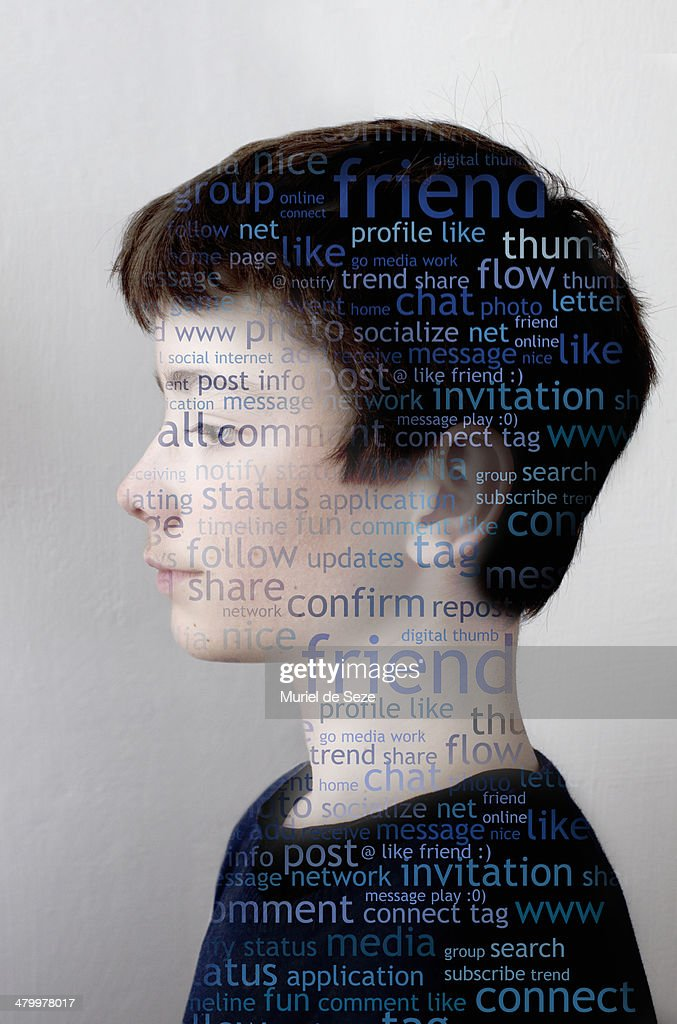 Boy portrait / Social media : Stock Photo