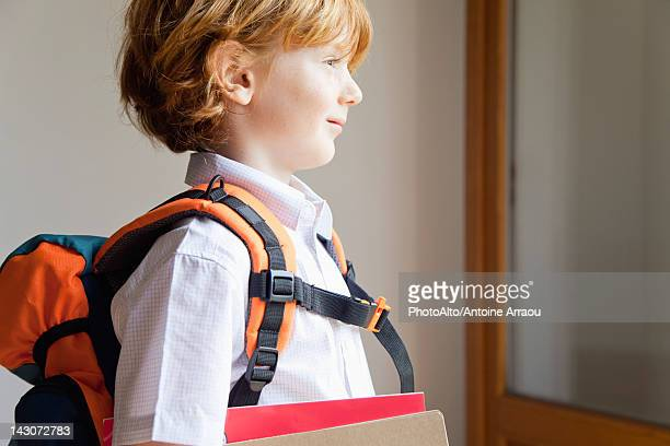 Boy prepared for school