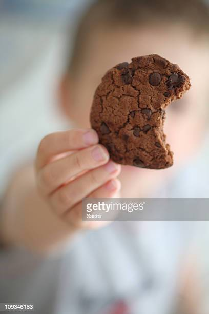 boy presents cookie