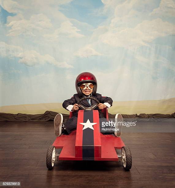 Boy racer ready for speedy business