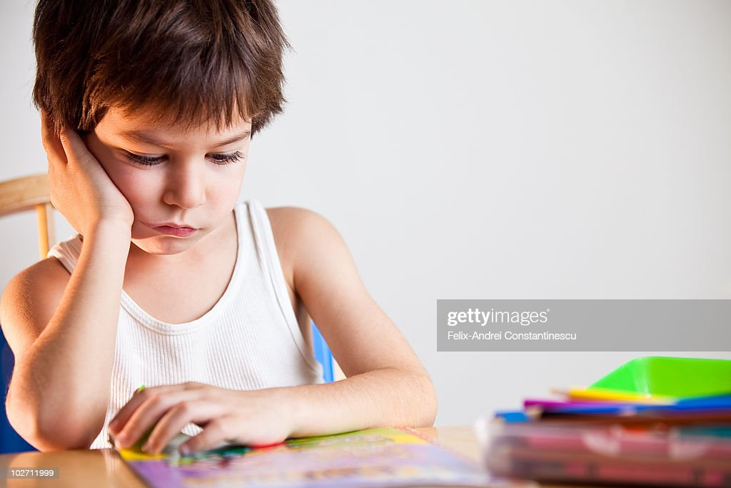 boy reading : Stock Photo