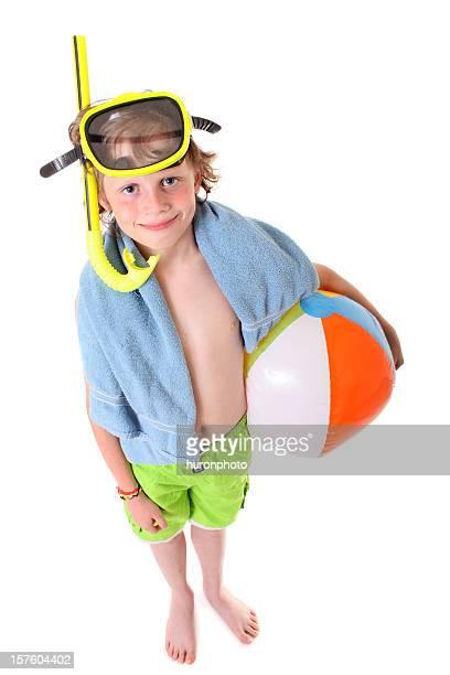 Garçon prêt pour la plage