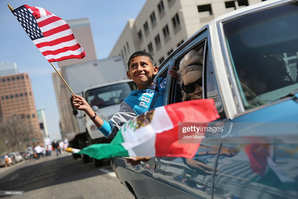 A boy rides in a low rider during a Cinco de Mayo parade on May 4, 2013 in Denver, Colorado. Hundreds of thousands of people were expected to attend the two day event, billed as the largest Cinco de Mayo celebration in the United States. Cinco de Mayo observes the victory of the Mexican army over French forces on May 5, 1862 in the town of Puebla, Mexico. The festival celebrates Mexican culture and is one of the most popular annual Latino events in the United States.