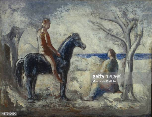 Boy Riding a Horse by Carlo Carr 20th Century oil on canvas 70 x 90 cm Italy Lazio Rome National Gallery of Modern and Contemporary ArtGNAM Whole...