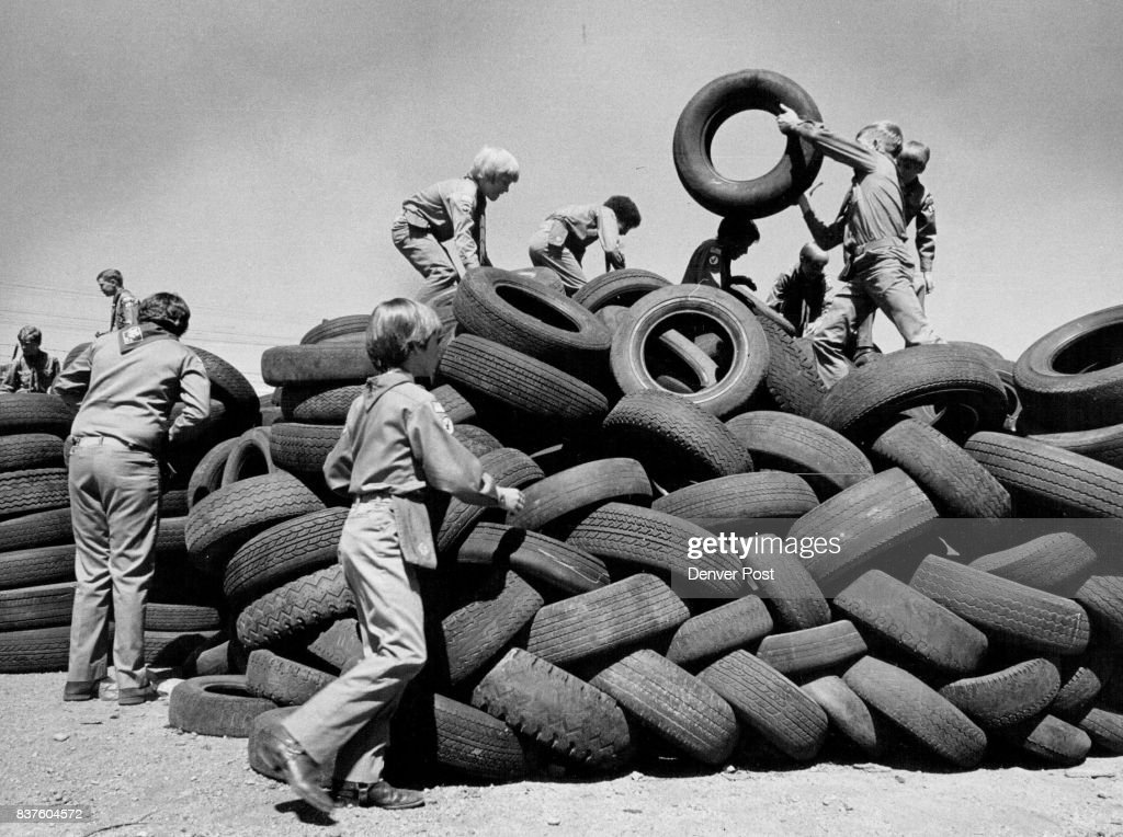 Boy Scouts Learn How To Identify Retreadable Tires Learning which tires can be reused was first step in recycling drive. Credit: The Denver Post