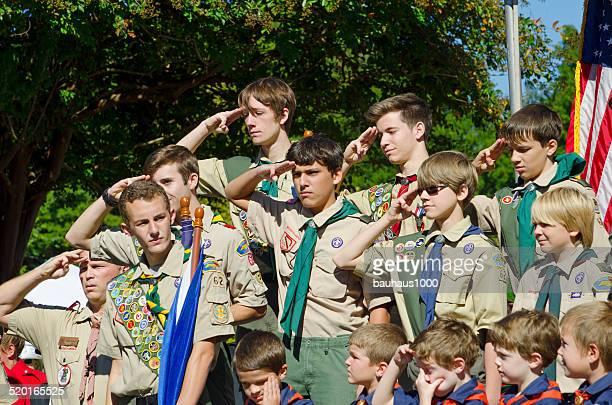 Boy Scouts Salutieren