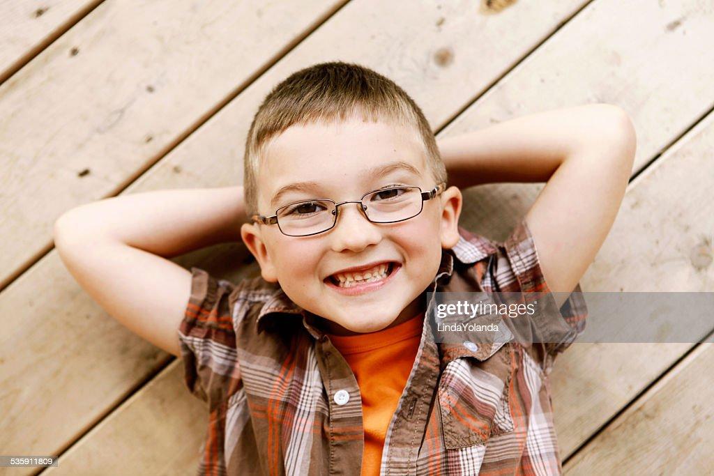 Boy Smiling at Camera : Stock Photo