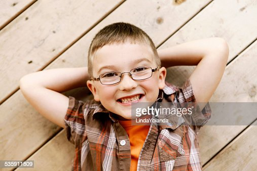 Boy Smiling at Camera : Stock Photo