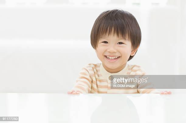 Boy smiling, portrait