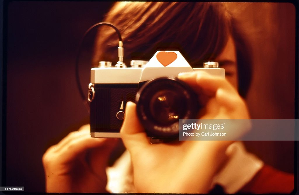Boy taking picture : Stock Photo