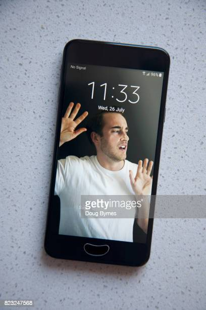 Boy trapped by phone